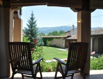Vista Jardin 2 Casa Rural La Cantañera Cañicosa Segovia