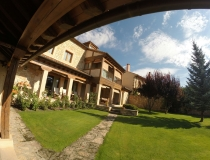 Panoramica Jardin Casa Rural La Cantañera Cañicosa Segovia