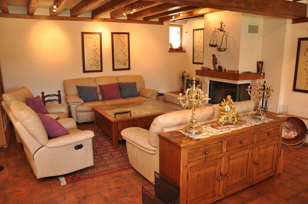 Salón Chimenea Casa Rural La Cantañera Segovia