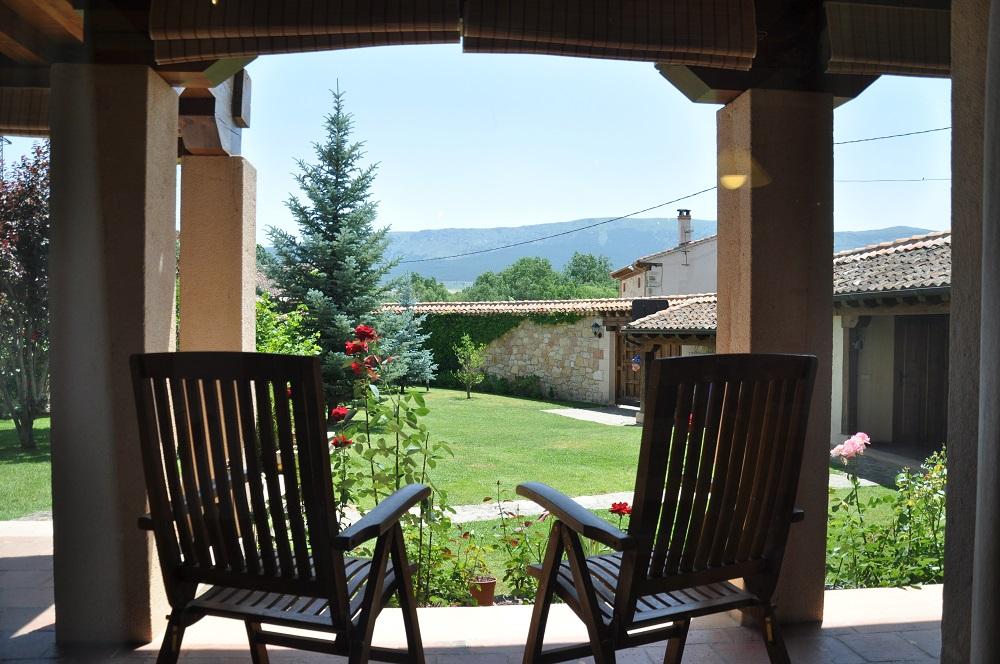 Vista Jardin Casa Rural La Cantañera Cañicosa Segovia Pedraza