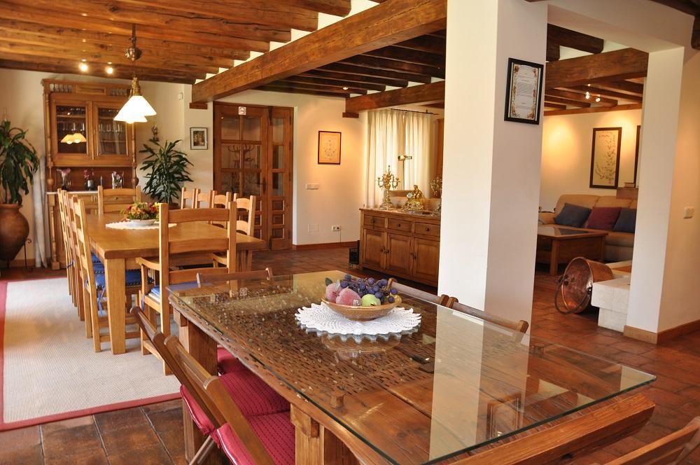 Salon-Comedor Casa Rural La Cantañera Cañicosa Segovia